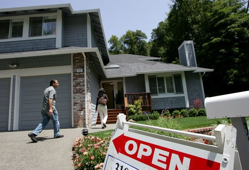 An open house in California, where the cost of living is typically far and above average
