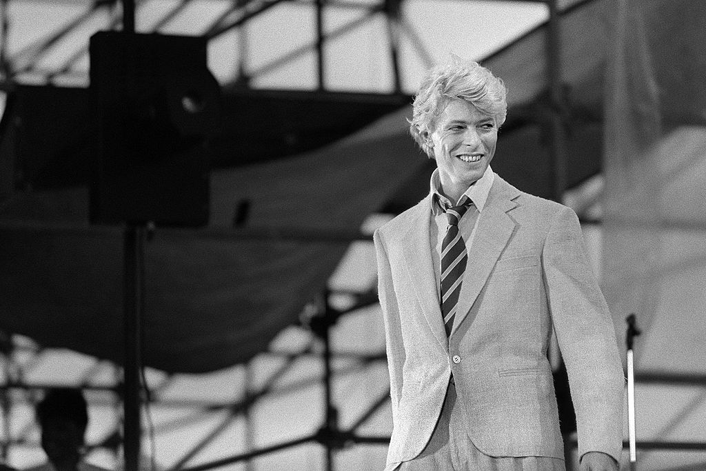 British singer David Bowie performs on stage at the Auteuil's Hippodrome in Paris