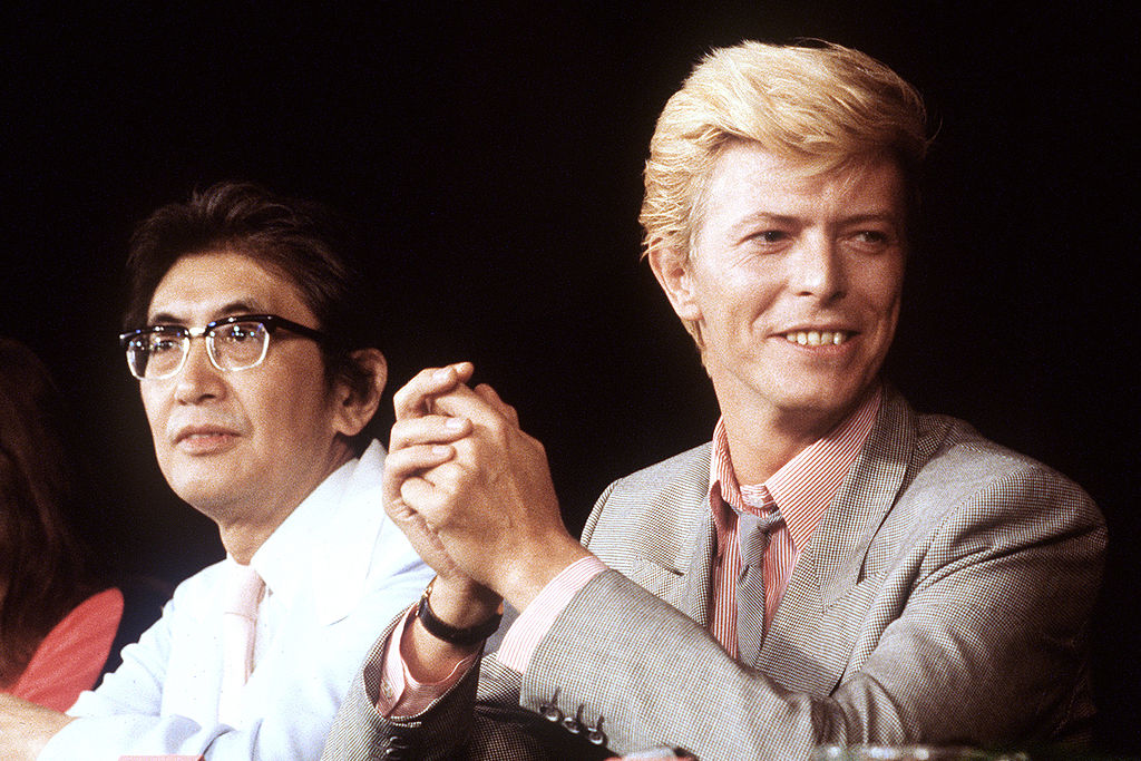 David Bowie at a press conference