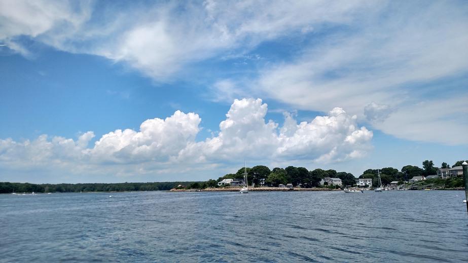 The shoreline of Habor Island, Narragansett, Rhode Island