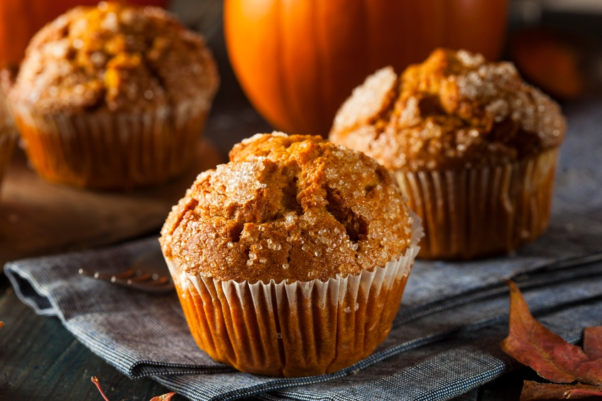 Autumn pumpkin muffin