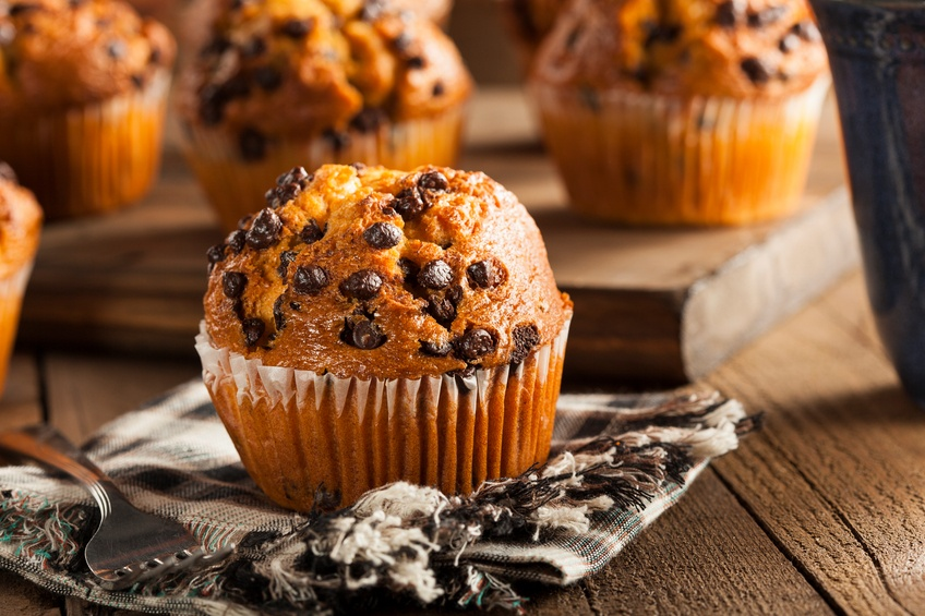 Homemade Chocolate Chip Muffins