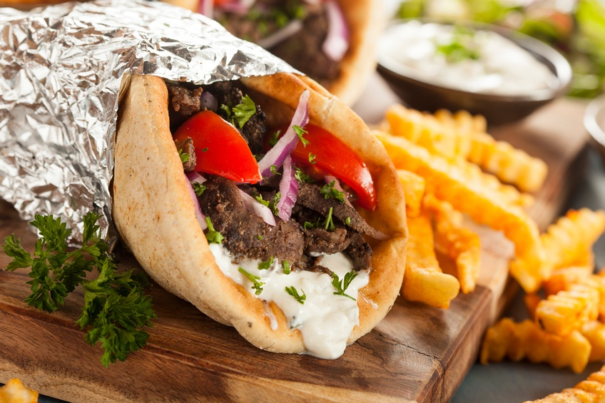 Meat Gyro with Tzatziki Sauce