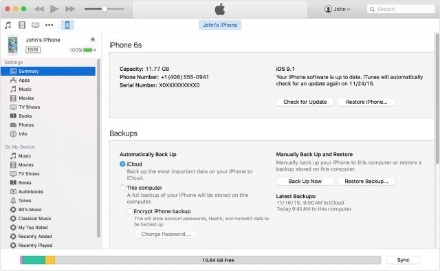 How to back up your iPhone with iTunes