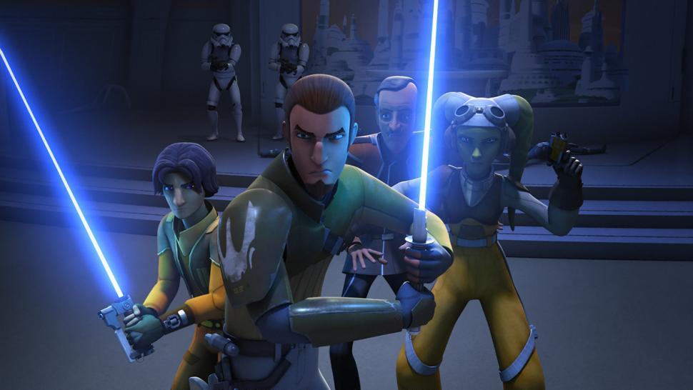 Kanan and Ezra in Star Wars: Rebels