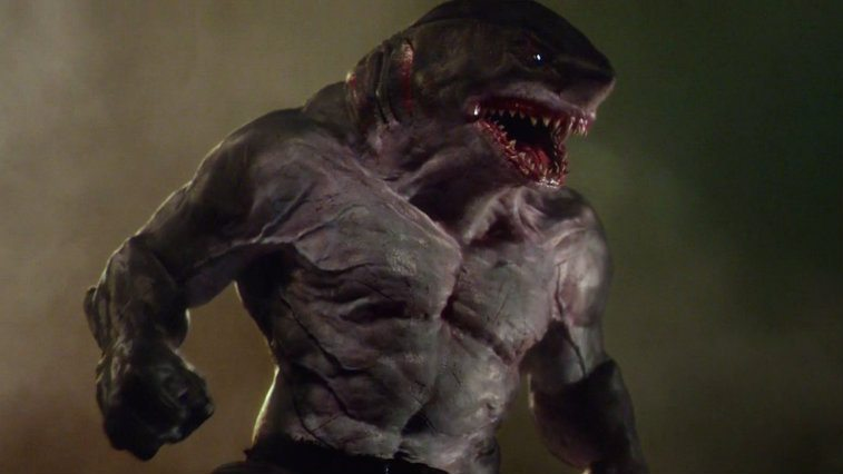 A giant shark-man hybid