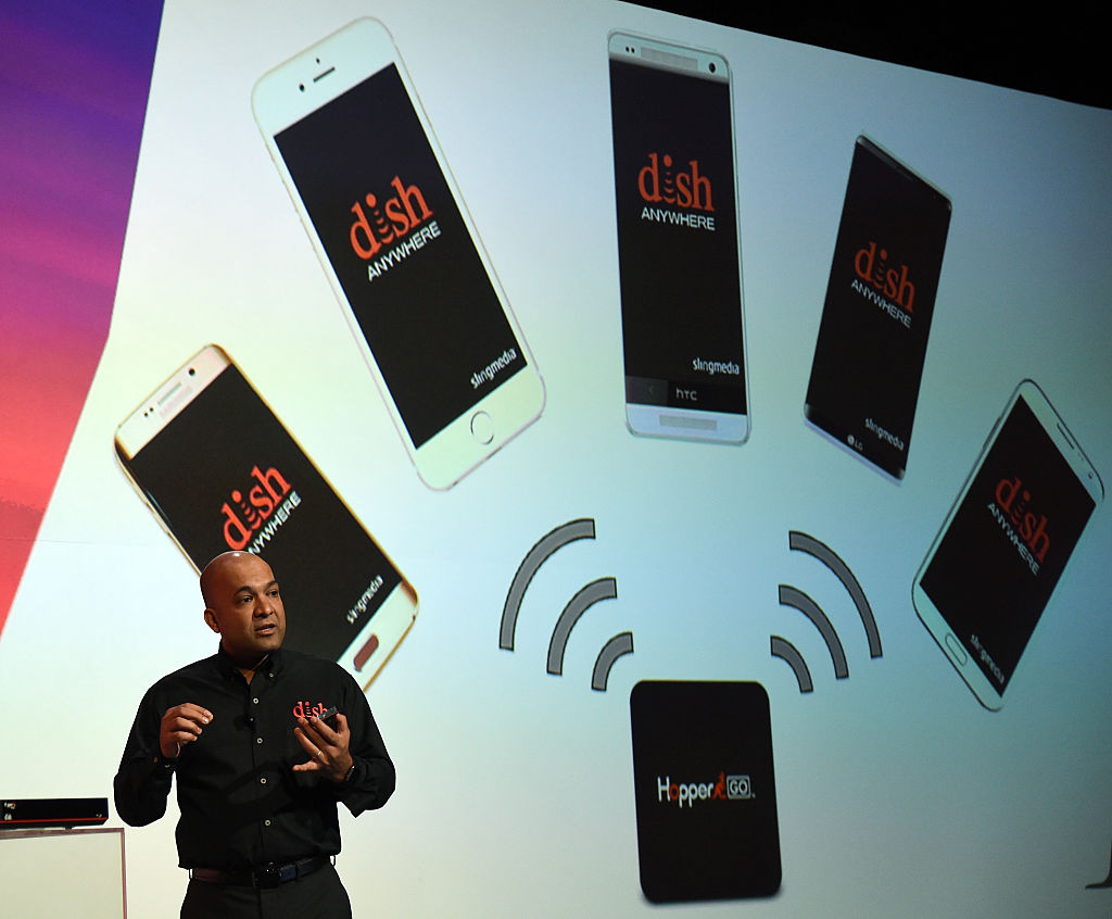 Chief Technology Officer Vivek Khemka speaks during a DISH Network/Sling TC press event