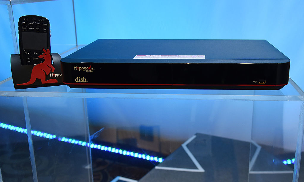 DISH Network Hopper 3 DVR is displayed during a DISH Network/Sling TV press event for CES