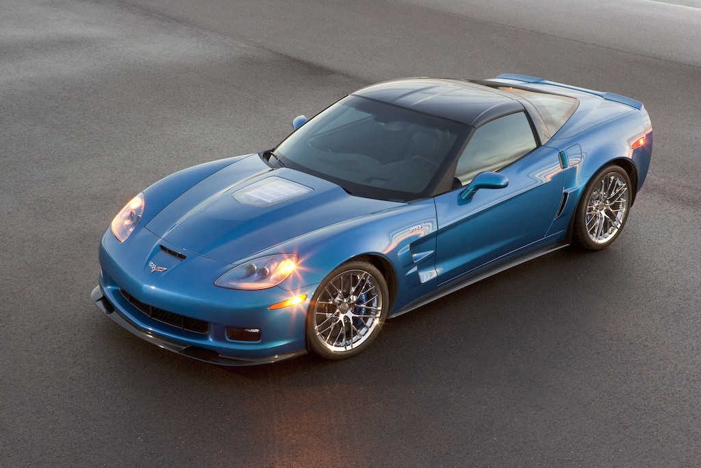 A blue 2009 Chevrolet Corvette ZR1