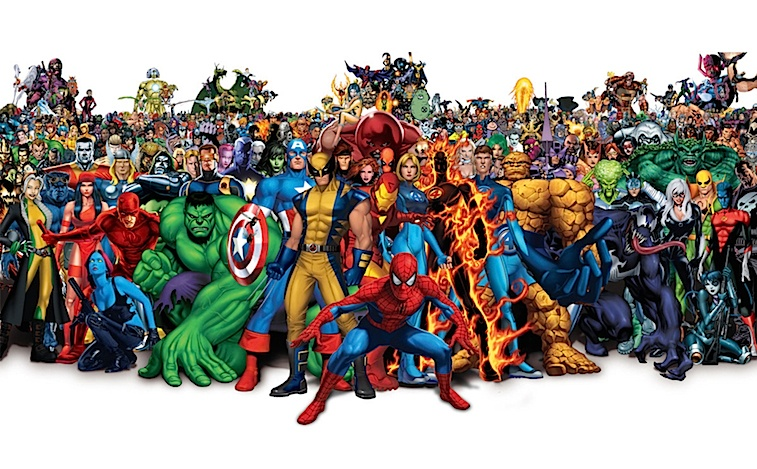All of Marvel's heroes gathered together
