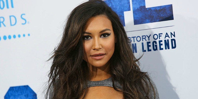Naya Rivera is posing on the red carpet.