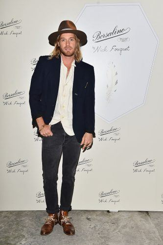 MILAN, ITALY - SEPTEMBER 22: Nick Fouquet attend Borsalino By Nick Fouquet Capsule Collection Cocktail Launch during Milan Fashion Week Spring/Summer 2017 on September 22, 2016 in Milan, Italy.