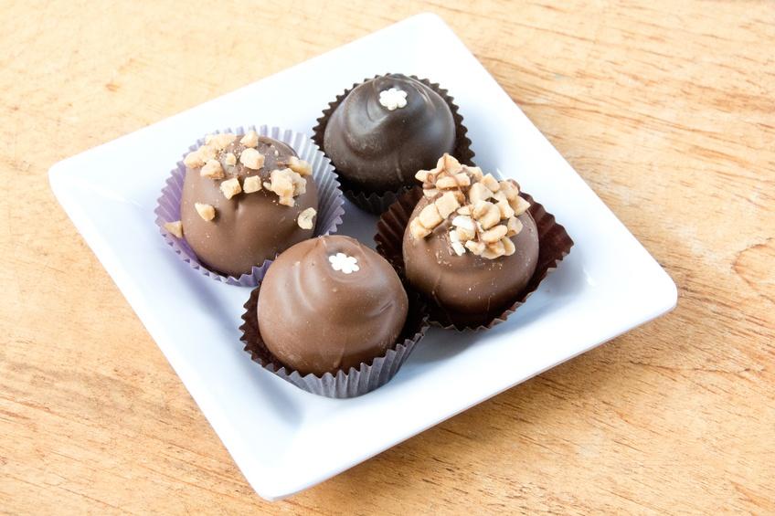 dark and milk chocolate truffles
