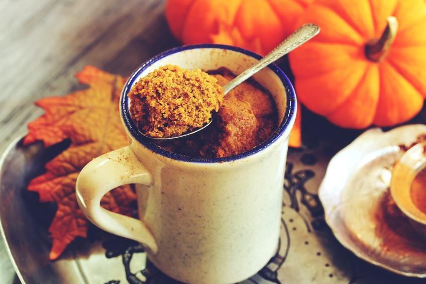 Pumpkin Spice Latte Microwave Mug Cake