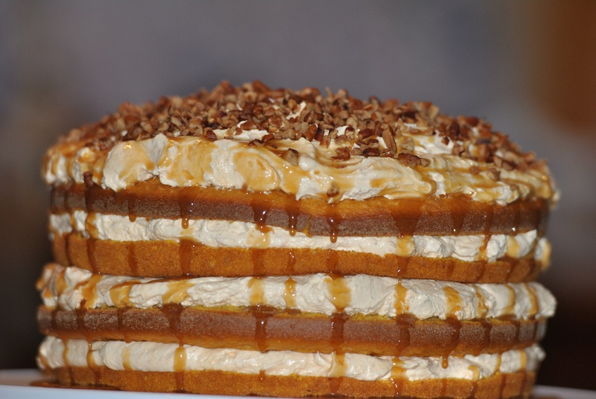 Close up of Pumpkin Torte