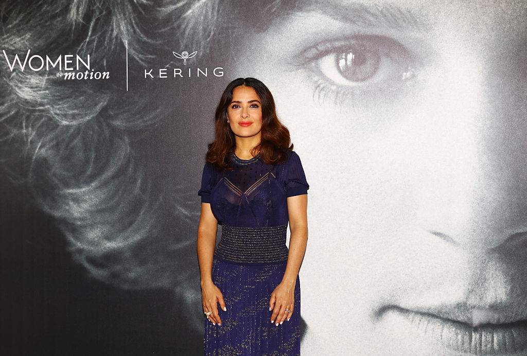 Salma Hayek Pinault attends Kering Talks Women In Motion At The 69th Cannes Film Festival