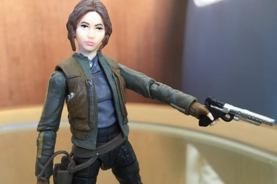 Jyn Erso toy from Rogue One