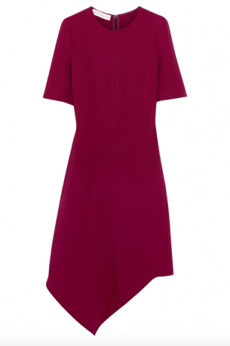 Dress with an asymmetric hem