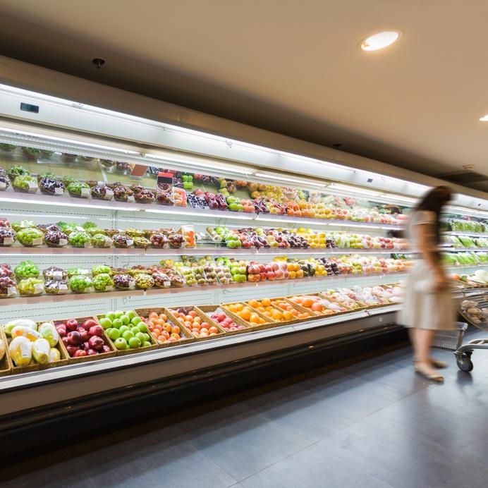 Shelf with fruits