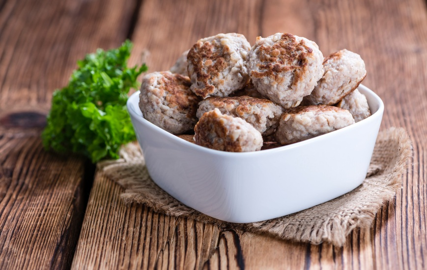 Meatballs in a bowl