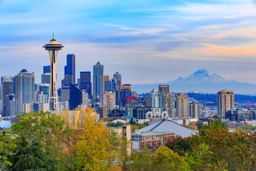 Seattle downtown and Space Needle
