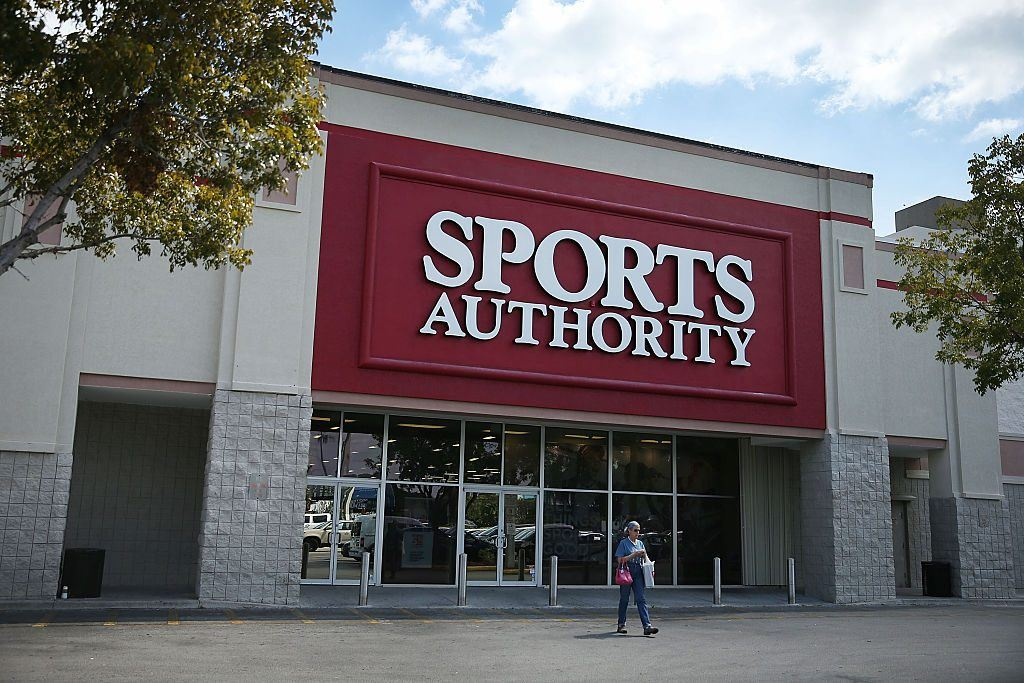 Sports Authority storefront