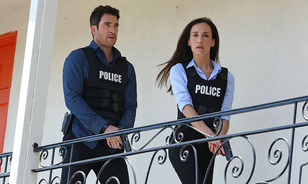 Dylan McDermott and Maggie Q on Stalker