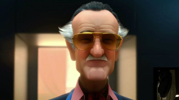 Stan Lee's animated cameo in Disney's Big Hero 6