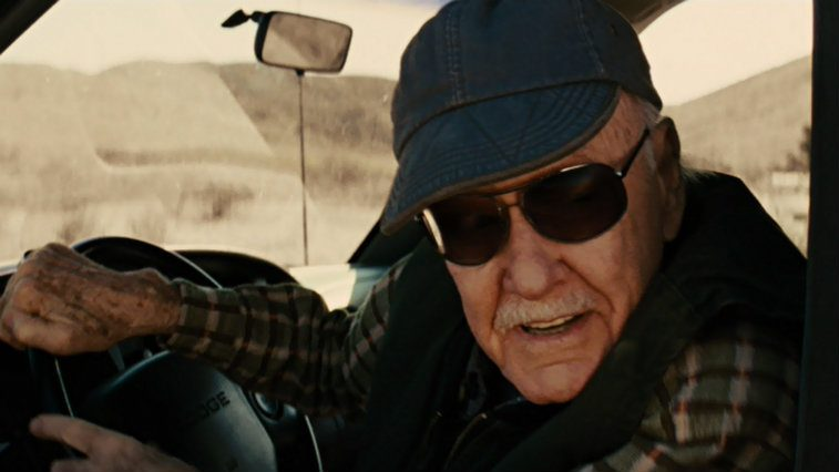 Stan Lee drives a car in a cameo in Thor