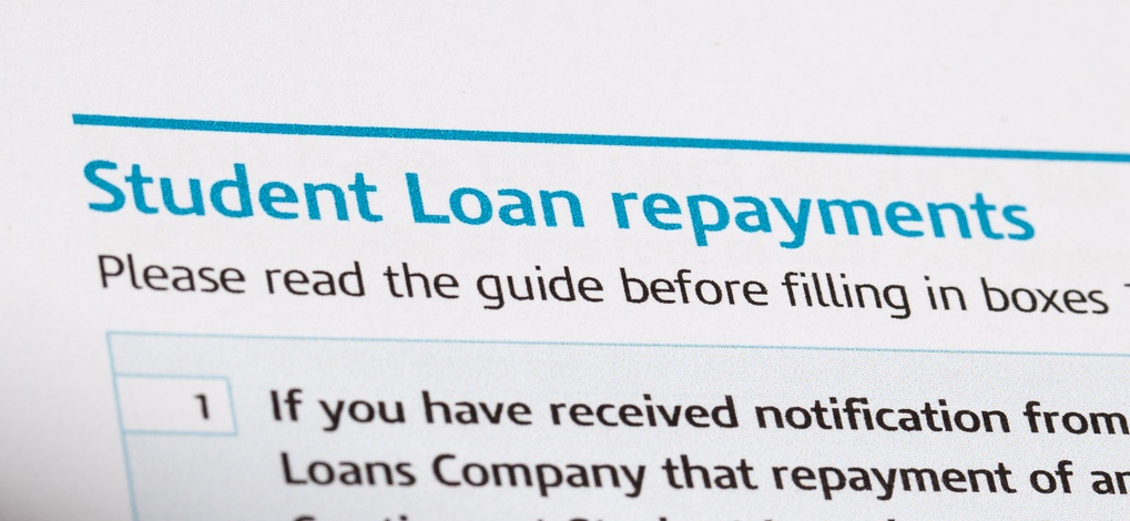 Student loan repayments on a form