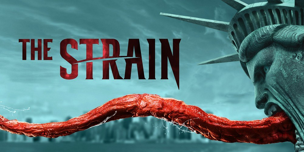 The statue of liberty takes on a monster quality in a promo poster for The Strain