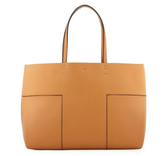 Tory Burch Block-T Leather Tote Bag