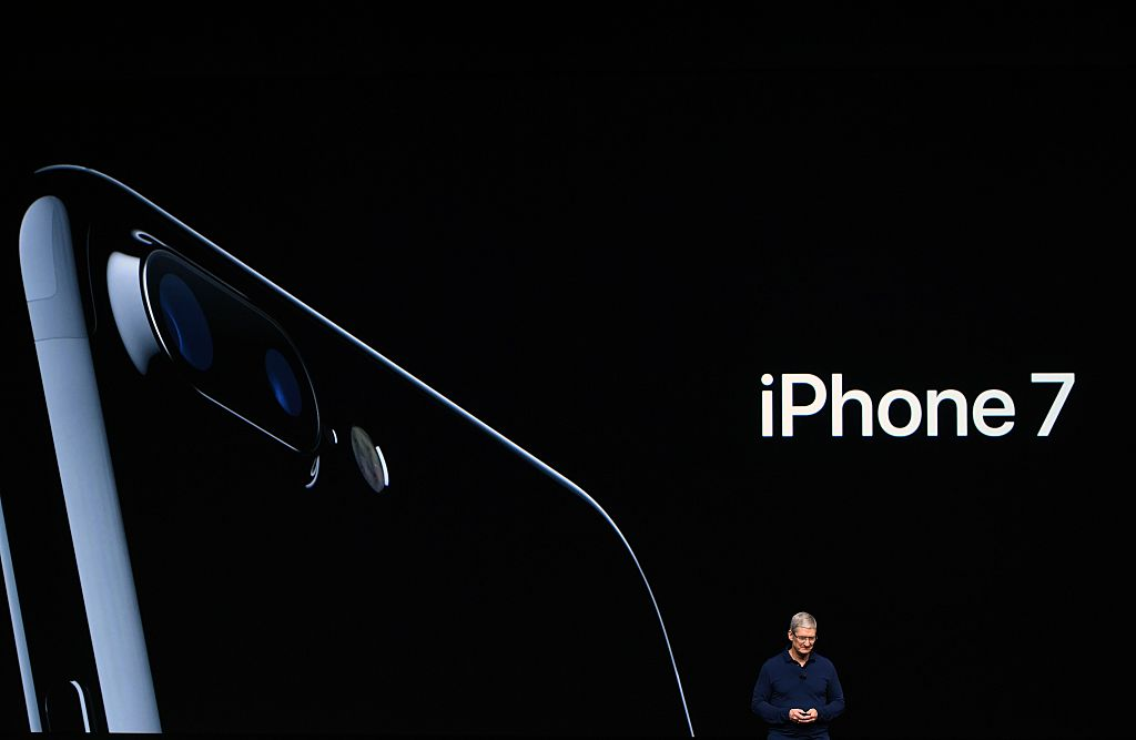 Apple CEO Tim Cook introduces the new iPhone 7