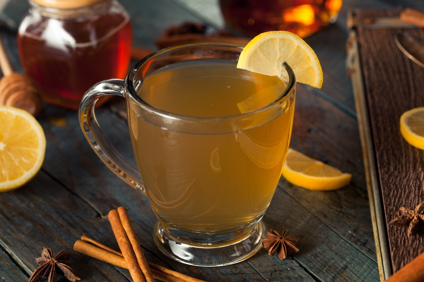Hot Toddy with Lemon Bourbon