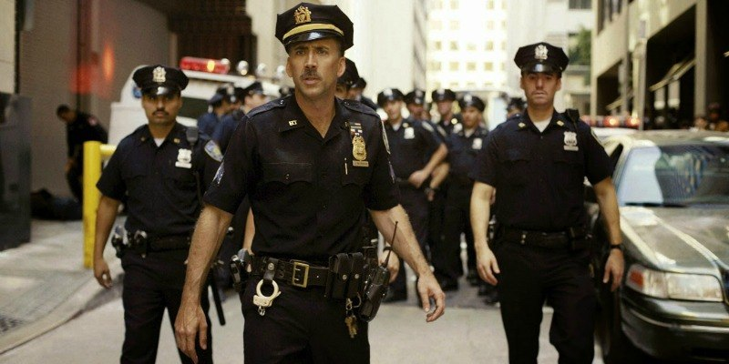 Nicolas Cage and Michael Pena in the 9/11 inspired film, World Trade Center