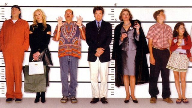 The Bluths in a police line up.