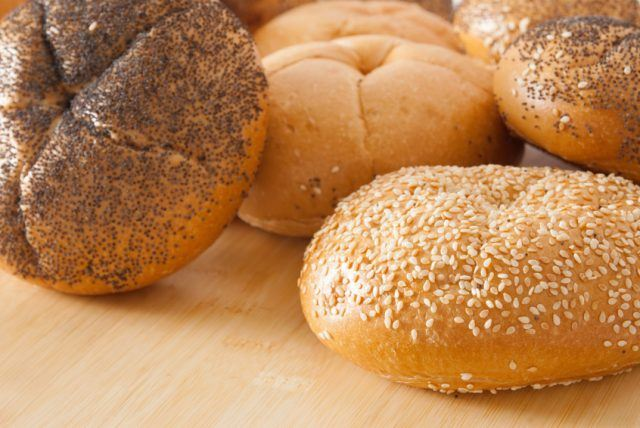 Assortment of kaiser roll breads