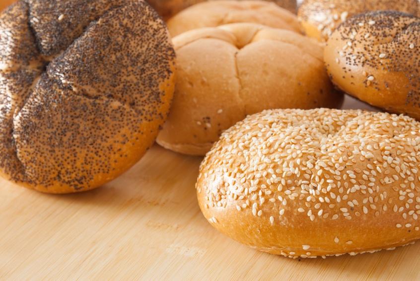 Assortment of kaiser roll breads