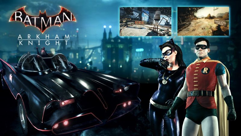 Retro skins for Catwoman and Robin in 'Batman: Arkham Knight'