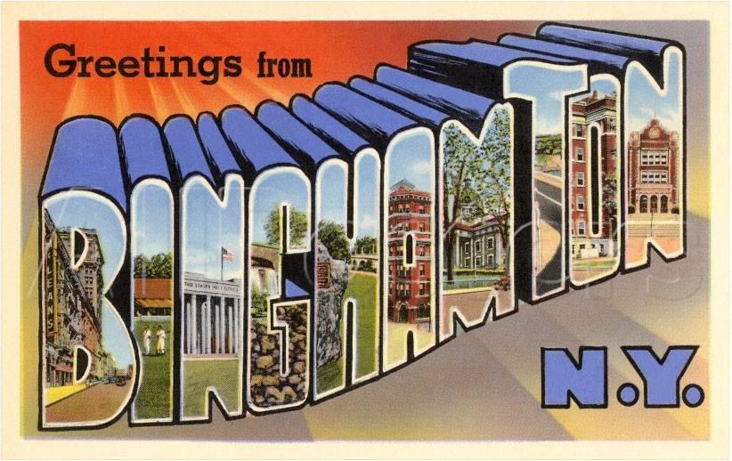 A Binghamton post card