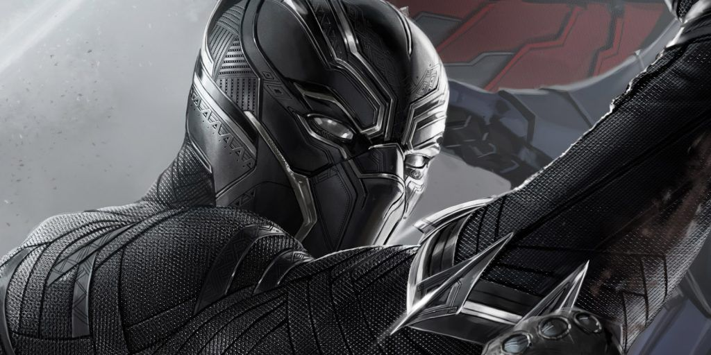 Black Panther holds up his hand in Captain America: Civil War