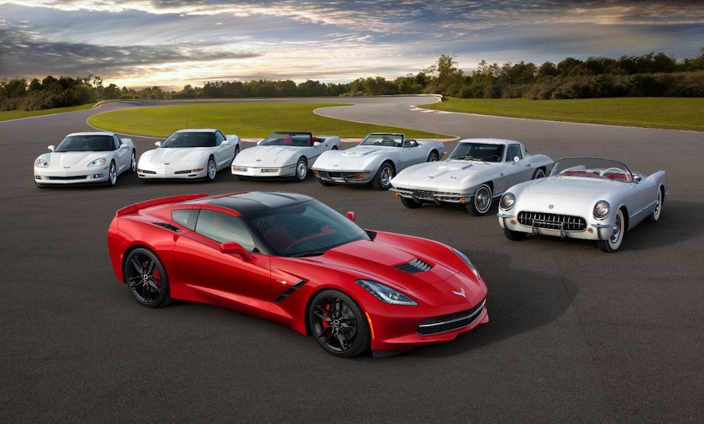 Corvette generations 1953-2015