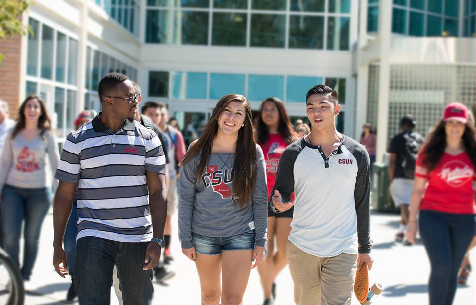 Students at Cal State Northridge