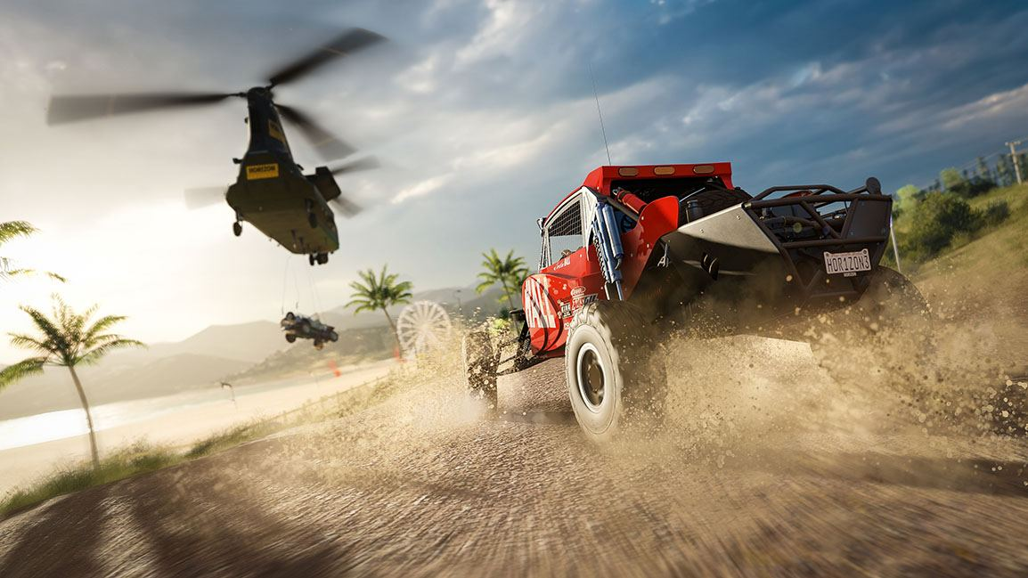 Racing a helicopter in Forza Horizon 3