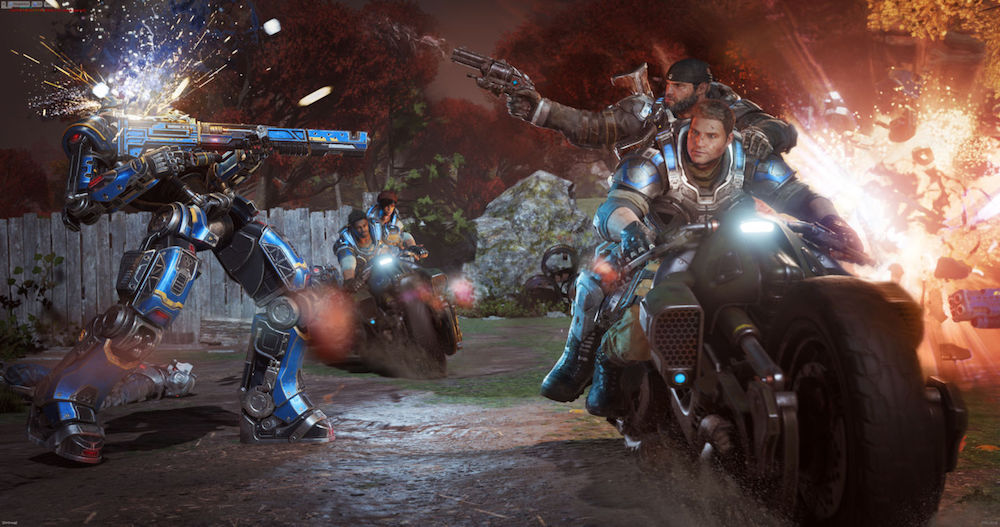 Robot enemies in Gears of War 4
