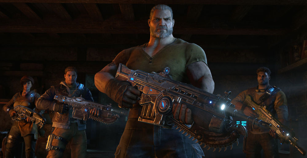 The team in Gears of War 4