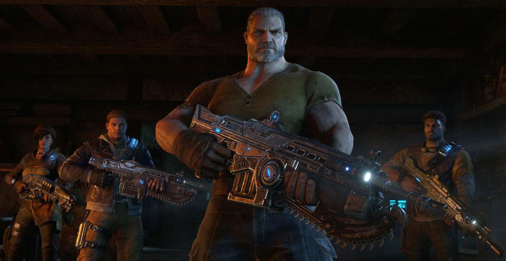The team in Gears of War 4