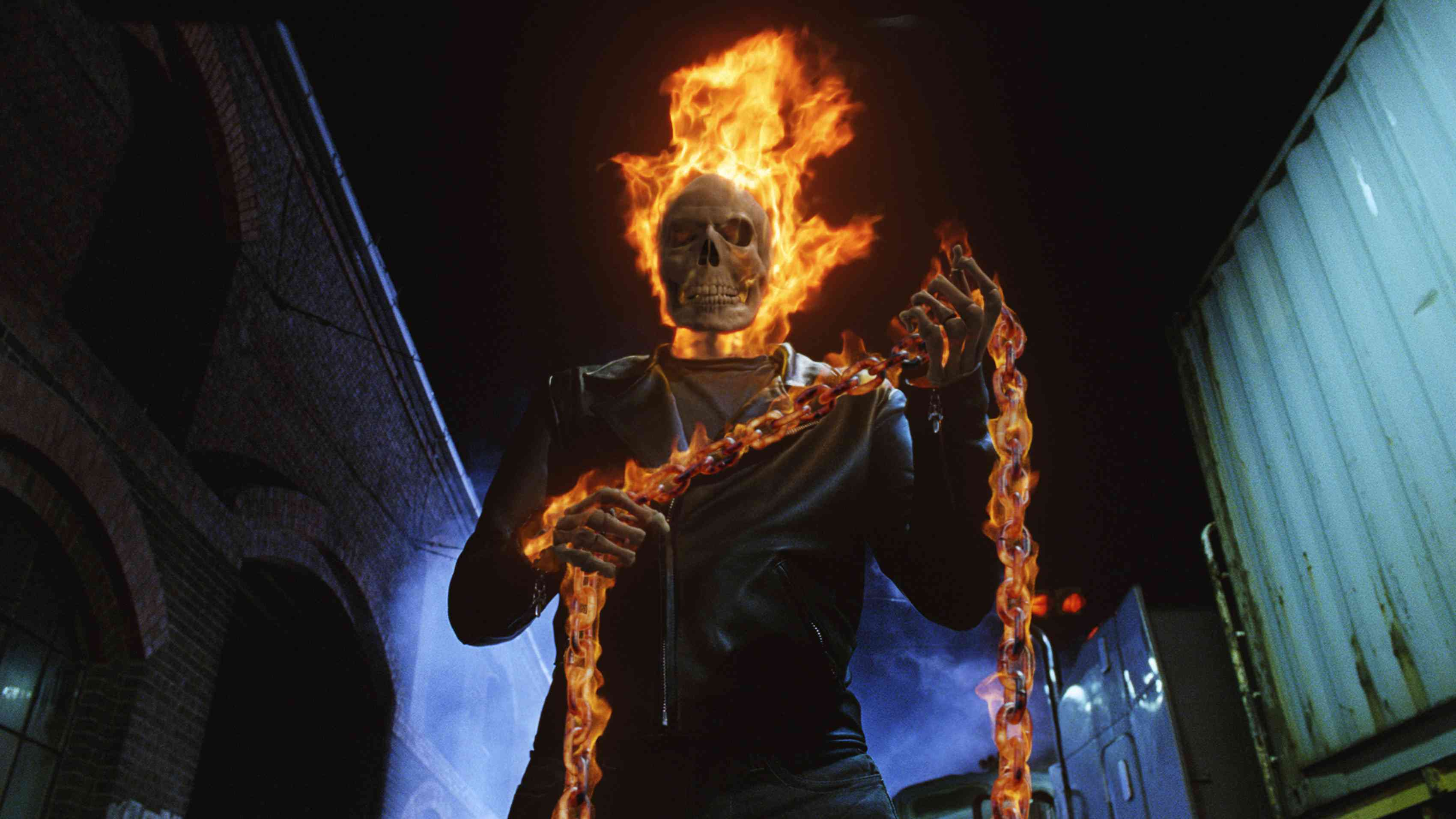 Nicolas Cage in Sony's Ghost Rider movie