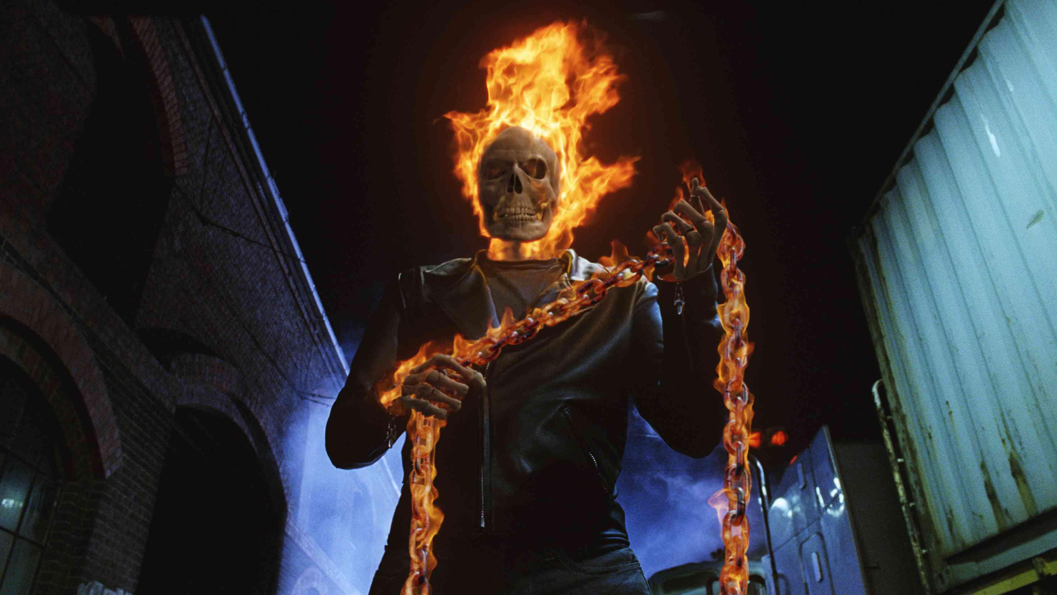 Nicolas Cage in Sony's Ghost Rider movie