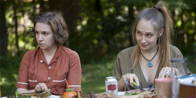 Lena Dunham and Jemima Kirke star in Girls on HBO